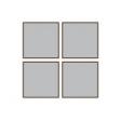 """方形 4""""x 4"""" 四個裝 金屬畫"""