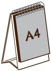 A4 直向單面座檯月曆