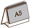 A5 橫向單面座檯月曆