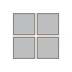 方形 4x4 金屬畫