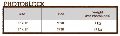Photoblock Pricing