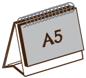 A5 single side desktop Calendar