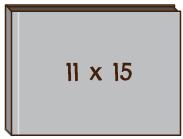 "橫向 11""x 15""無縫相簿"