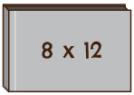 "橫向 8""x 12""無縫相簿"