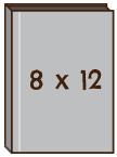 """直向 8""""x 12""""無縫相簿"""