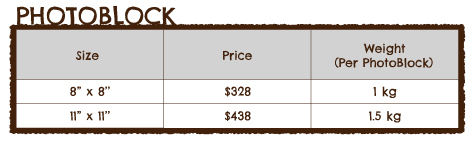 Photoblock Pricing